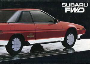 Subaru 4WD  range inc XT Turbo English text full colour sales brochure 1985