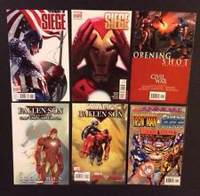 Captain America vs Iron Man SIEGE Variants Comic Book Lot Civil War Fallen Son
