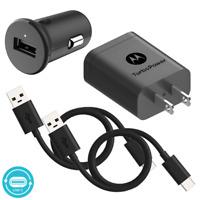 Motorola Essentials USB-C Turbo Charge Bundle: TurboPower 18 Car + Wall Charger