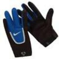 Nike Field Players Gloves v new football soccer size x large xl black / blue