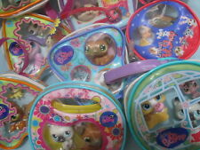 Littlest Pet Shop Random Lot of 2 Purses and 6 Lps Figures with Gift Bags