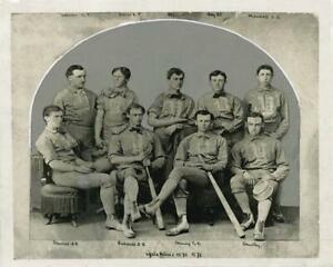 Antique Photo .... Baseball Yale Nine Team Photo 1870-71 ... Photo Print
