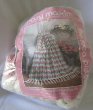 """Mary Maxim Crochet """"Cotton Look"""" Afghan Kit Approx 45"""" x 55"""" Finished"""