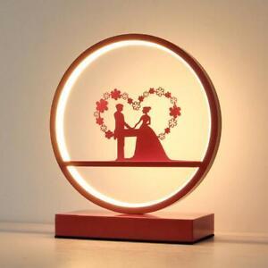 New LED Table Lamp Bedroom Study Marriage Room Decor Night Light Wedding Gift
