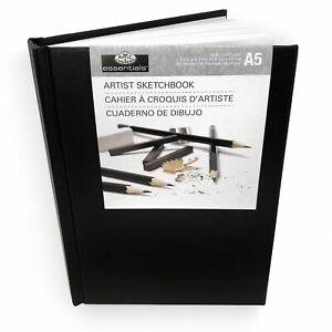Royal & Langnickel A5 80 Sheet Hardback Casebound Artist Sketchbook Drawing Pad