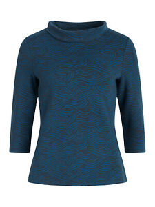 New Sunstream Top - Brushed Waves Raven  by SEASALT RRP was £45 size 10 12 14