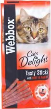 Webbox Cats Delight Tasty Sticks with Beef & Rabbit (6 per pack - 30g)
