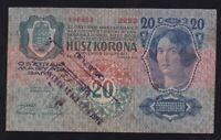 YUGOSLAVIA ---- SHS ---- 20  KRONEN  1913 --- SEAL -- SMEDEREVO ---