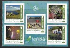 ISLE OF MAN 2018 YEAR OF OUR ISLAND UNMOUNTED MINT SELF ADHESIVE PANE OF 5