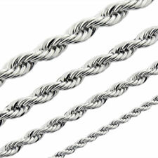 """24"""" Mens Womens Stainless Steel Rope Necklace Chain 3mm with free gift box New"""