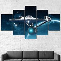 Star Trek Enterprise Ship Canvas Framed 5 Pcs Wall Art Poster Decor
