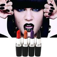 New Lasting Lip Gloss Makeup Purple Gold Black Red Lipstick Matte Lip Stick Dsaf