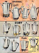1964 Vintage Ad Universal Coffeematic Cory Presto Electric Coffee Maker Pot