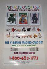 "1997 BEANIES BABIES Trading Cards Dealer Promo Flyer 8.5"" x 11"""