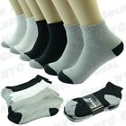 New Mens 2 Tones Sports Athletic Crew Socks Cotton LOW CUT Size 9-11 10-13