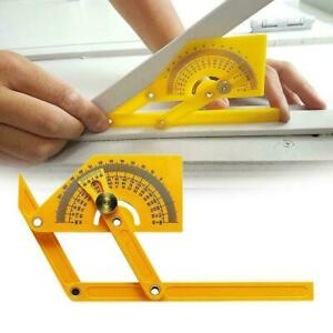 Accurate Protractor And Angle Finder Woodworking Measuring Tools Top D7B6
