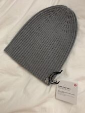 29bfa2dedf0 Lululemon Women s Wool Be Cozy Toque NWT HCMG Grey Color Hat 100% Merino  Wool