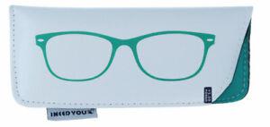 weiches Brillen-Einstecketui FASHY in grün   weich ausgeschlagen   NEU