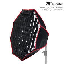 "26"" Octagon Soft Box Photography Reflector Light Photo Diffuser Honey Comb Grid"