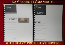 Highest Quality IC-718 Instruction & Service Manuals 😊C-MY OTHER MANUALS😊