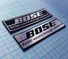 BOSE Audio - Metallic Sticker Badge - 2 pieces - 70 mm x 20 mm