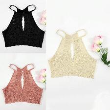 Womens Lace Bralette Bralet Bra Bustier Summer Crop Tops Cami Tank Tops Vest EW