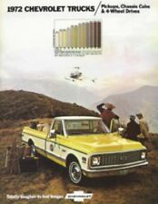 CHEVROLET 1972 Truck Sales Brochure 72 Chevy Pick Up