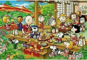 """Jigsaw puzzle PAENUTS Snoopy Party 300 pieces. 26x38cm.""""Thanksgiving"""" Party"""