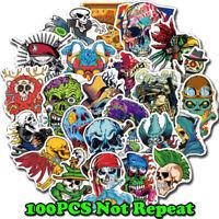 100x Scary Horror Themed Mixed Skateboard Stickers Skull Blood Gore Sticker Bomb