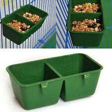 3x 2 in 1 Plastic Bird Parrot Food Water Bowl Cage Hanging Pet Cup Feeding Bowls