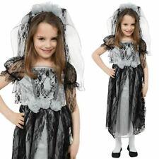Gothic Ghost Bride Children Halloween Zombie Corpse Fancy Dress New