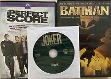 Lot Of 3 DVDs (Batman 1943 Serial, Joker, & The Perfect Score)