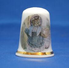 Birchcroft China Thimble -- Beatrix Potter - Cousin Ribby -- Free Box