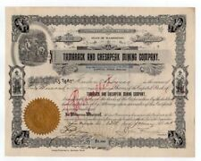 Tamarack and Chesapeak Mining Co. stock certificate
