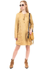 RRP €530 PLEIN SUD JEANS Tunic Dress Size 44 / XL Suede Effect Embroidered