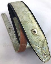 """Genuine Leather Soft Padded Supreme """"Tropical Dream"""" Guitar Strap"""