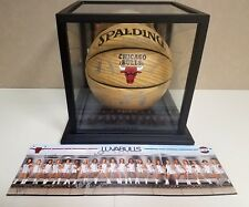 Chicago Luvabulls Autographed Basketball with Glass Case and Card