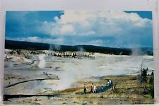 Yellowstone National Park Norris Geyser Basin Postcard Old Vintage Card View PC
