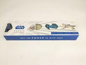 Williams Sonoma Star Wars cookie cutters 4 ships Death Star Millennium Falcon