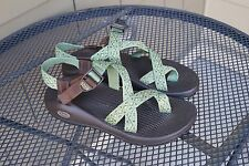 A+ Womens Chaco Z/2 Green Brown 10 Sport Sandals Hiking Trail Water Colorado