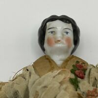 "ANTIQUE GERMAN CHINA HEAD EARLY DOLL 8"" GERMANY 9 MARK DOLLHOUSE SIZE"