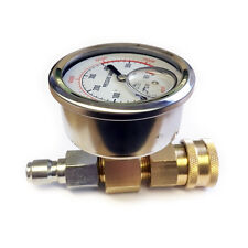 Pressure Washer Pressure Gauge Quick Release 0-600 Bar 8700 PSI Glycerine Filled
