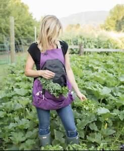 Roo Garden Apron - Garden Kitchen and Harvest Smock with Bib Storage Pockets