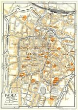 PADUA town/city plan. Italy 1960 old vintage map chart
