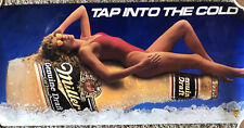 """Vintage Genuine Miller Draft Beer Poster """"Tap Into the Cold� 1980s 36x18�"""
