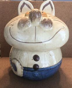 VINTAGE 1950'S DORANNE OF CALIFORNIA Cheshire Cat COOKIE JAR