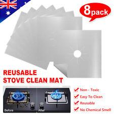 Reusable Non-stick Foil Gas Range Stove top Burner Protector Liner Cover 8PCS