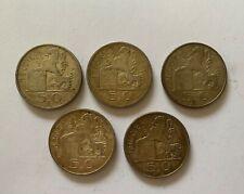 LOT DE 5 PIECES 50F 1948/49/54
