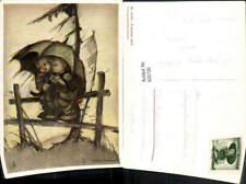 635720,Künstler Ak B. Hummel April Kinder unter Schirm Sturm pub Hummel 14246