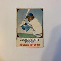 1975 Hostess George Scott # 26 Milwaukee Brewers MLB Baseball Card Hand Cut